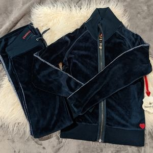 NWT Twisted Heart Blue Tracksuit size small